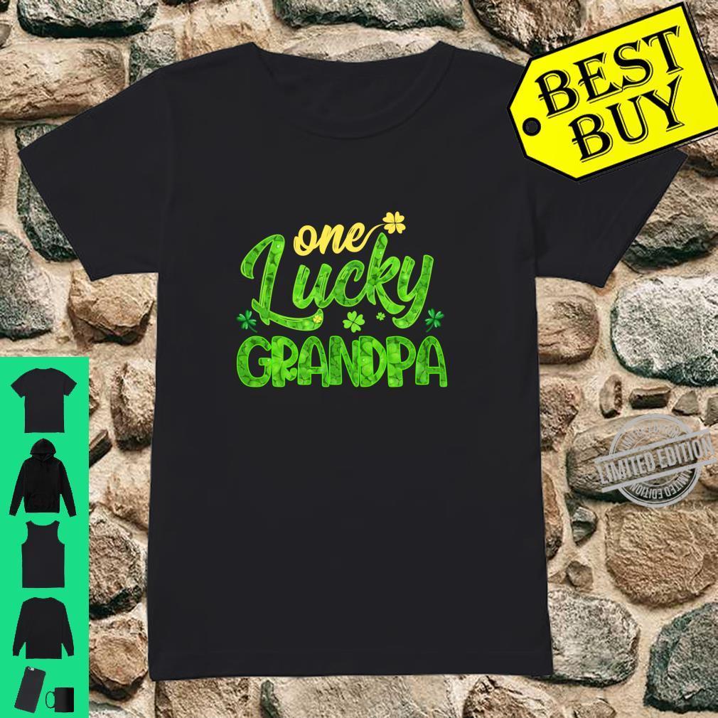One Lucky Grandpa Shamrock St Patricks Day Shirt ladies tee