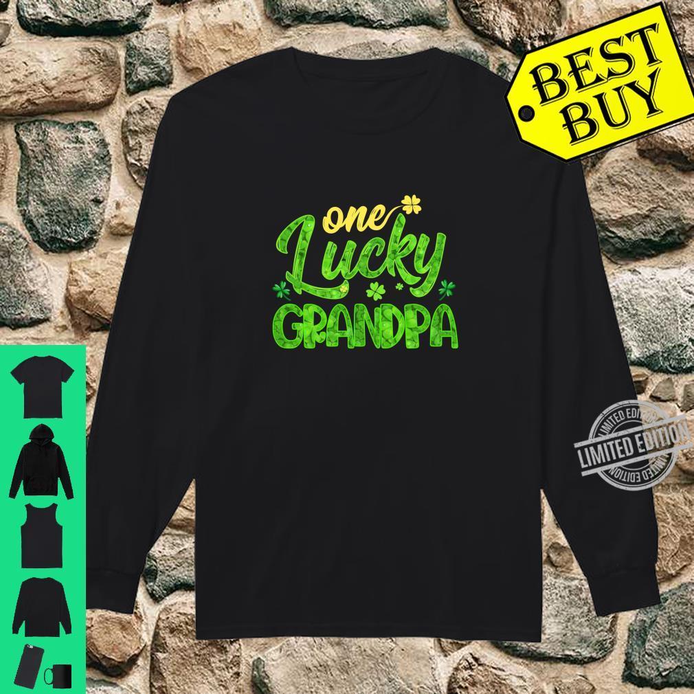 One Lucky Grandpa Shamrock St Patricks Day Shirt long sleeved