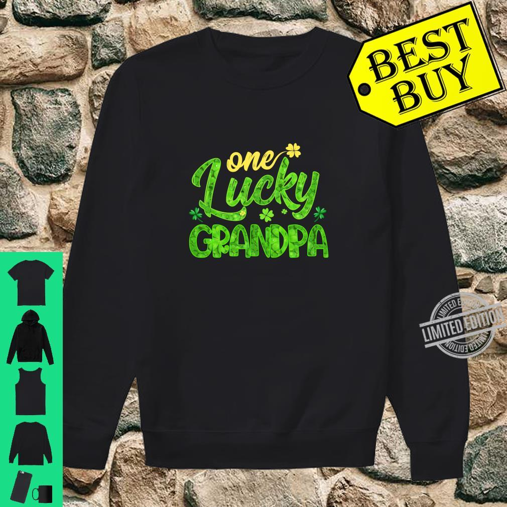 One Lucky Grandpa Shamrock St Patricks Day Shirt sweater