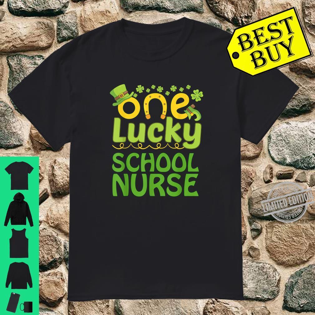 One Lucky School nurse St Patricks Day Shirt