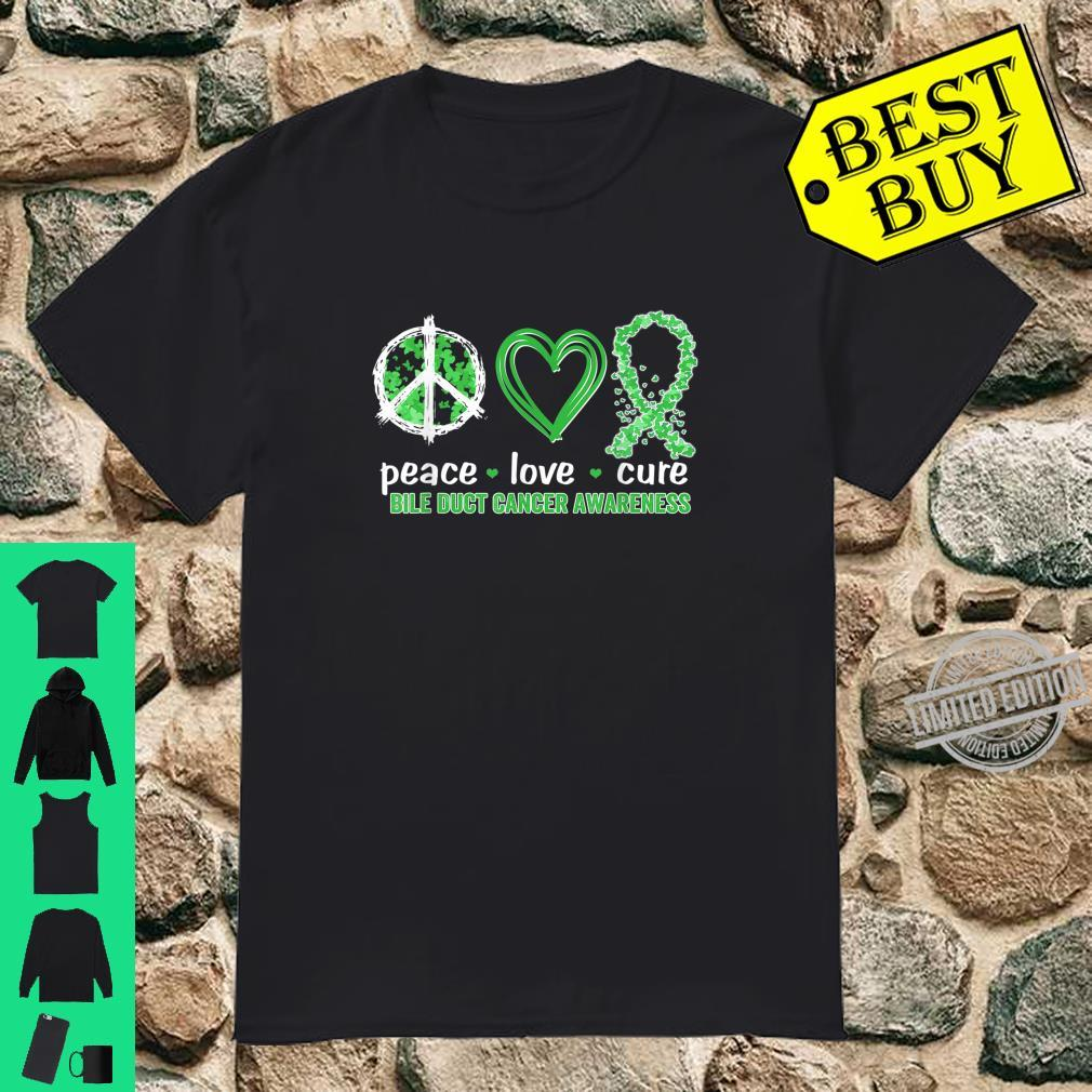 Peace Love Cure Bile Duct Cancer Awareness Shirt