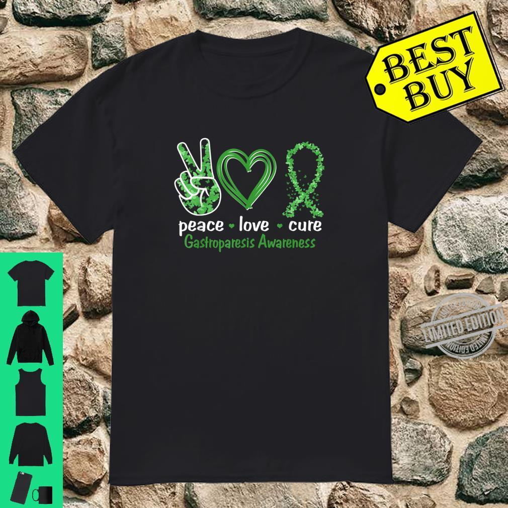 Peace Love Cure Gastroparesis Awareness Shirt