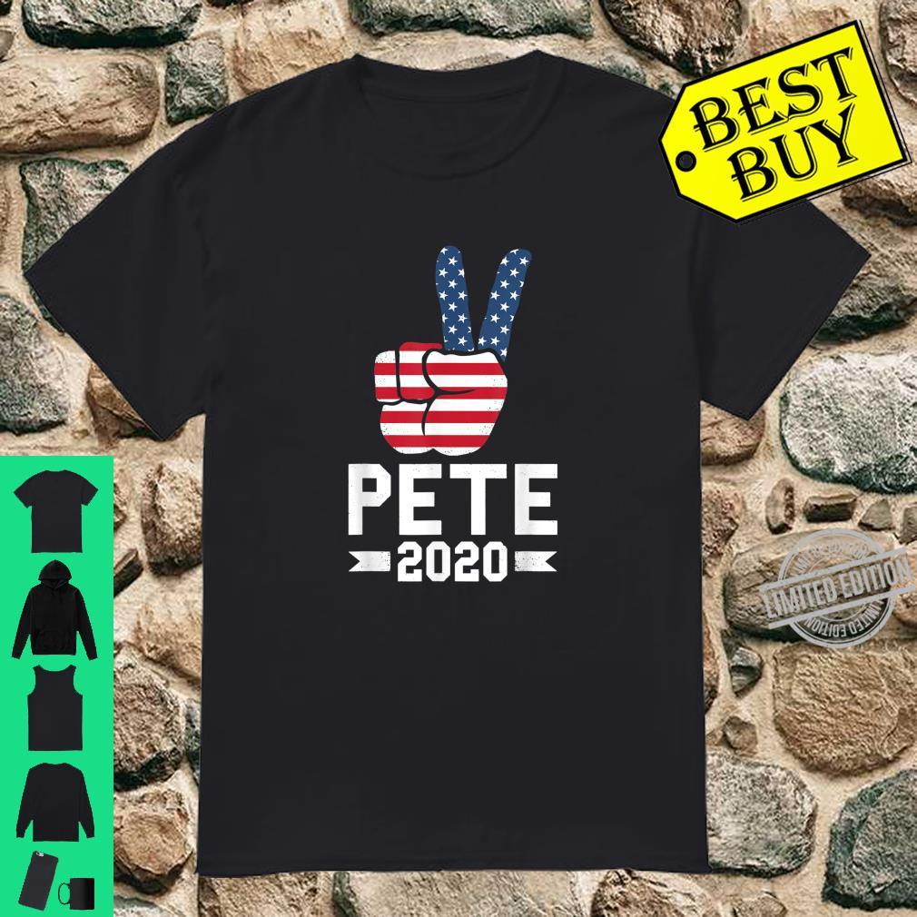 Pete 2020 Peace Sign USA Flag 2020 Election Pete Supporters Shirt