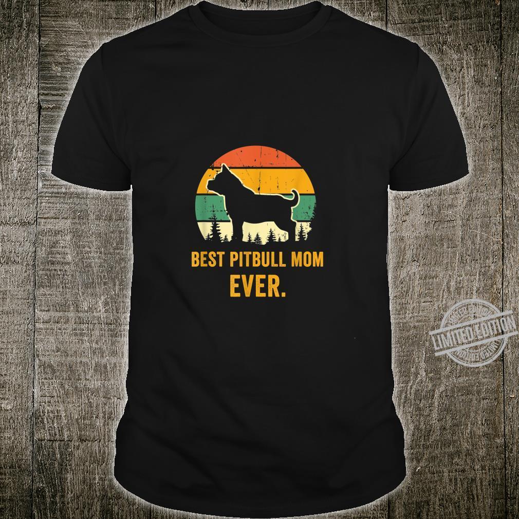 Pitbull mom dog lover retro pit dog mama Shirt