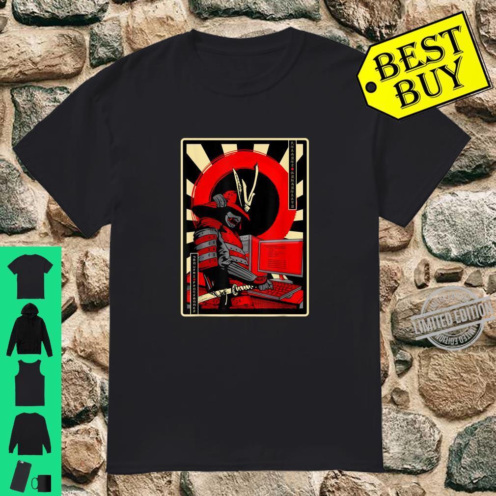 Programmierer Samurai Japanisch Kultur Developer Kämpfer Shirt