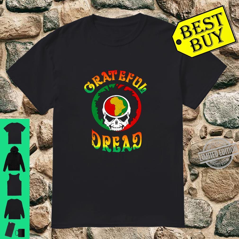 Rasta Dread Locs Reggae Skull Africa Shirt