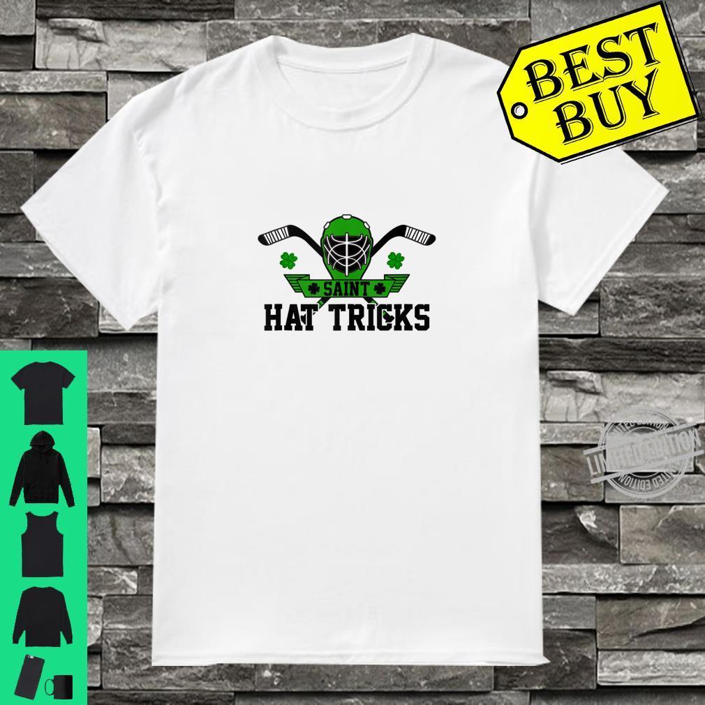 Saint Hat Tricks Hockey St Patrick's Day Shamrock Boys Shirt