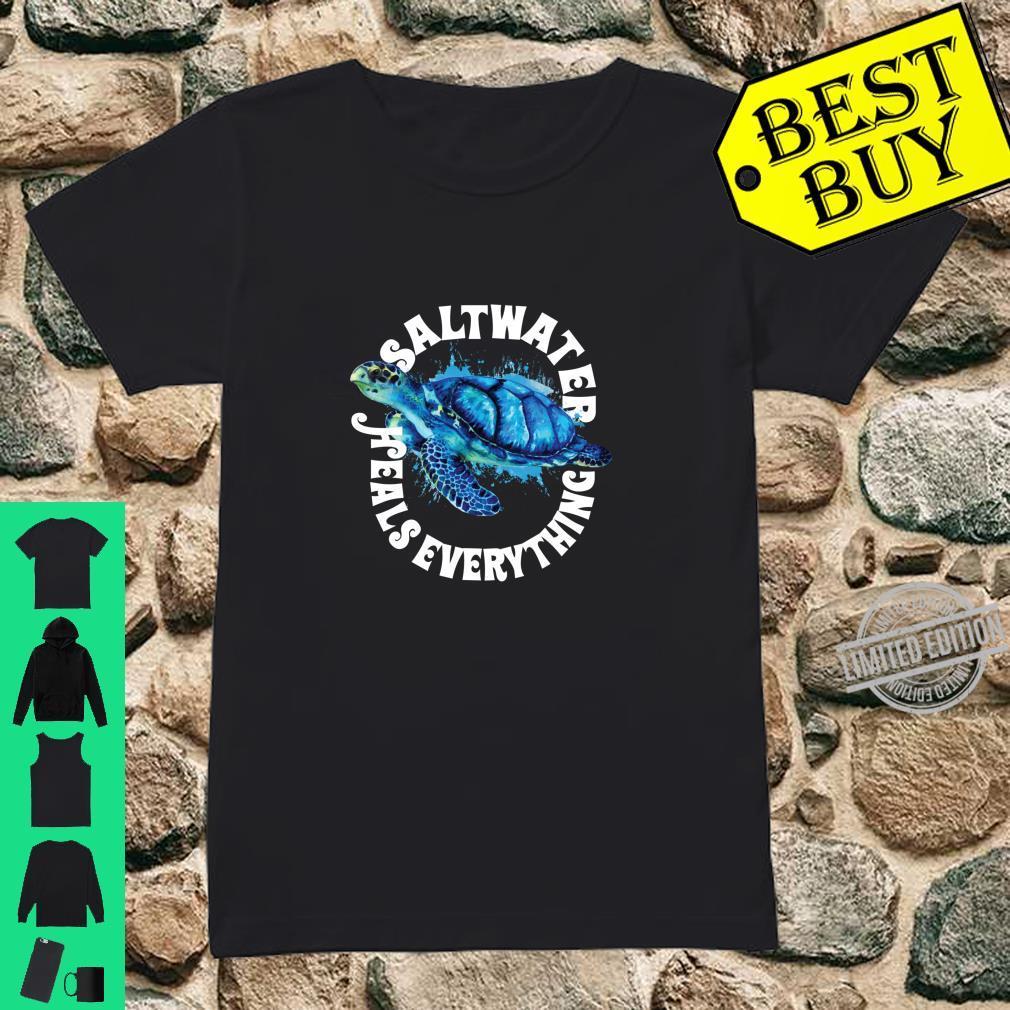Saltees Saltwater Heals Everything Langarmshirt Shirt ladies tee