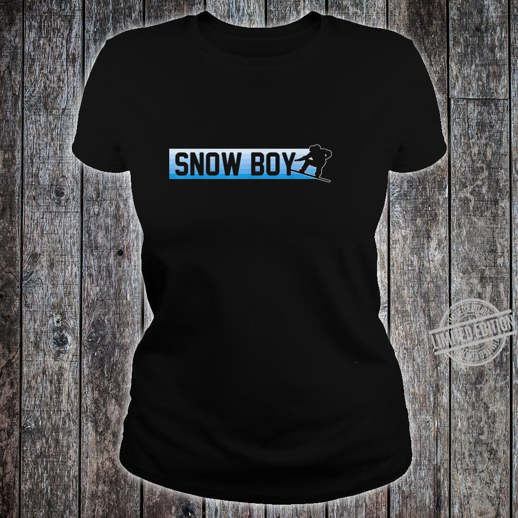 Snow Boy Snowboard Boarding Winter Sport Geschenk Shirt ladies tee