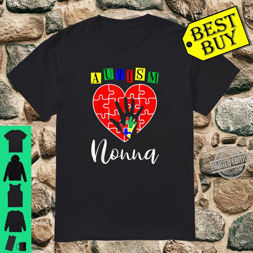 Support Autism Shirt Love Heart Proud Nonna Autism Shirt