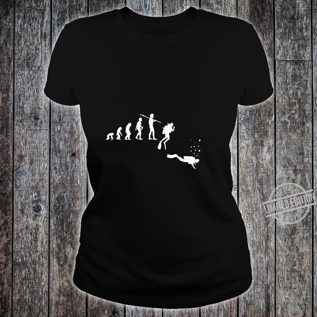 TShirt with Diving Evolution Diving Underwater Design Shirt ladies tee