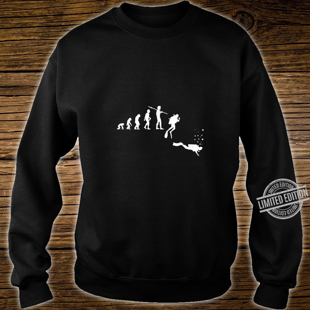 TShirt with Diving Evolution Diving Underwater Design Shirt sweater