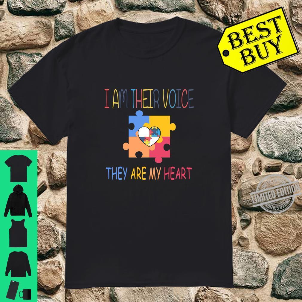 Teacher I am their voice special education autism Shirt