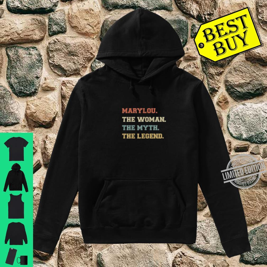 The Name Is Marylou The Myth And Legend Varsity Style Shirt hoodie