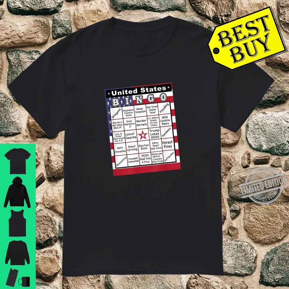 The Unbelievable 2020 USA Bingo Card Shirt