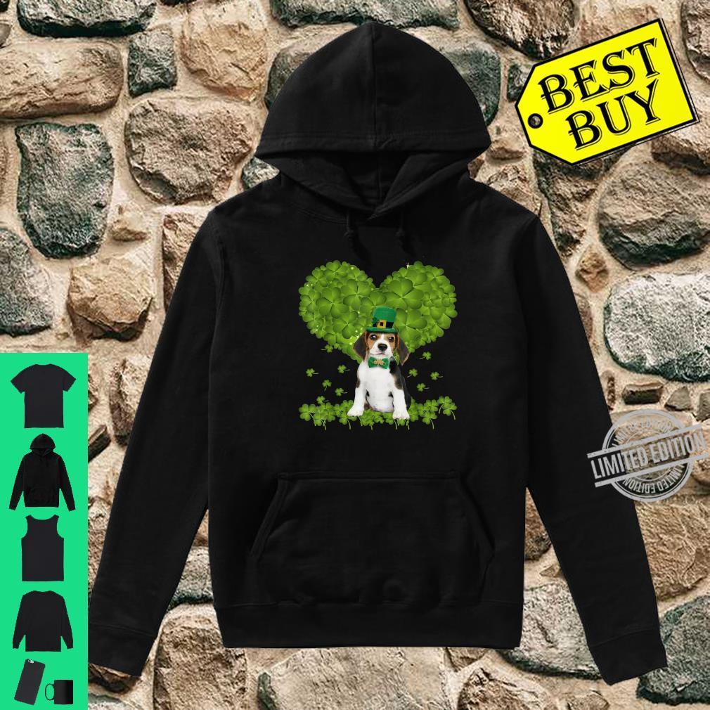 Through The Irish Shamrock Beagle St Patricks Day Costume Shirt hoodie