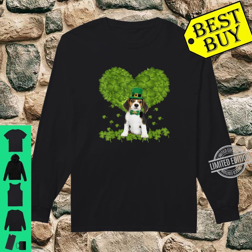 Through The Irish Shamrock Beagle St Patricks Day Costume Shirt long sleeved