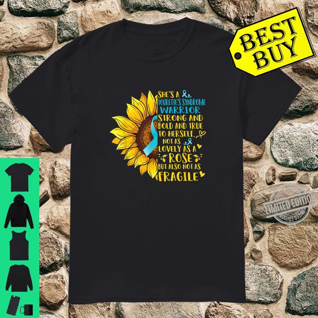 Tourette's Syndrome Warrior Sunflower Shirt