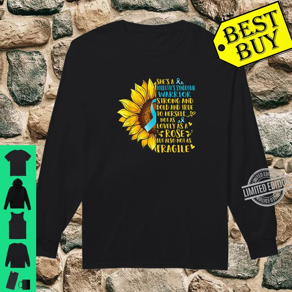 Tourette's Syndrome Warrior Sunflower Shirt long sleeved