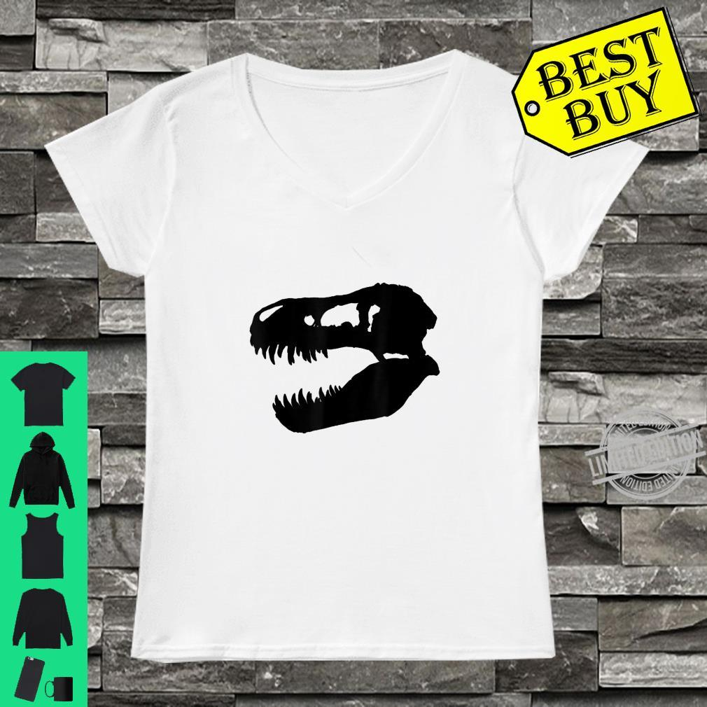 Trex dinosaur skull Shirt ladies tee