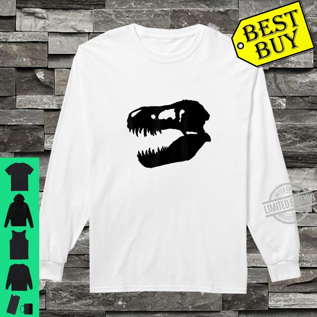 Trex dinosaur skull Shirt long sleeved