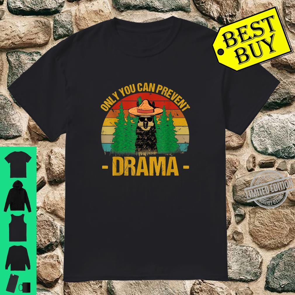 Vintage Only you can prevent drama Llama Camping Camper Shirt