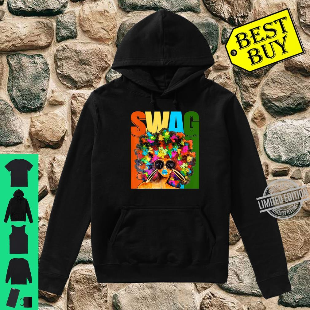 Vintage Retro Swag Melanin Black Afro Queen Shirt hoodie
