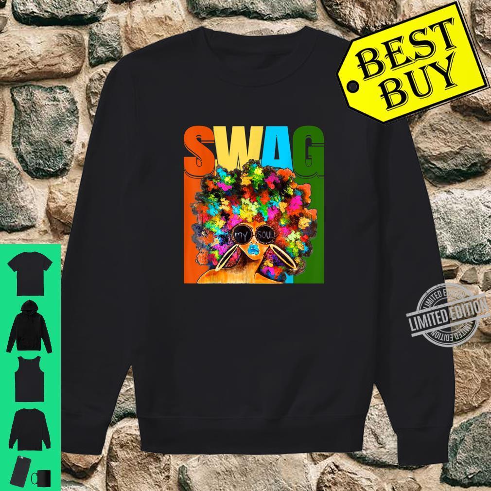 Vintage Retro Swag Melanin Black Afro Queen Shirt sweater