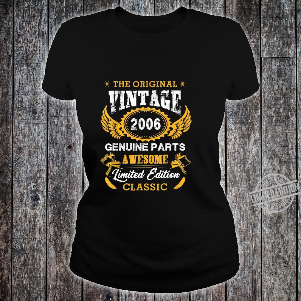 Vintage Wings 2006 14th Birthday For 14 Years Old Shirt ladies tee