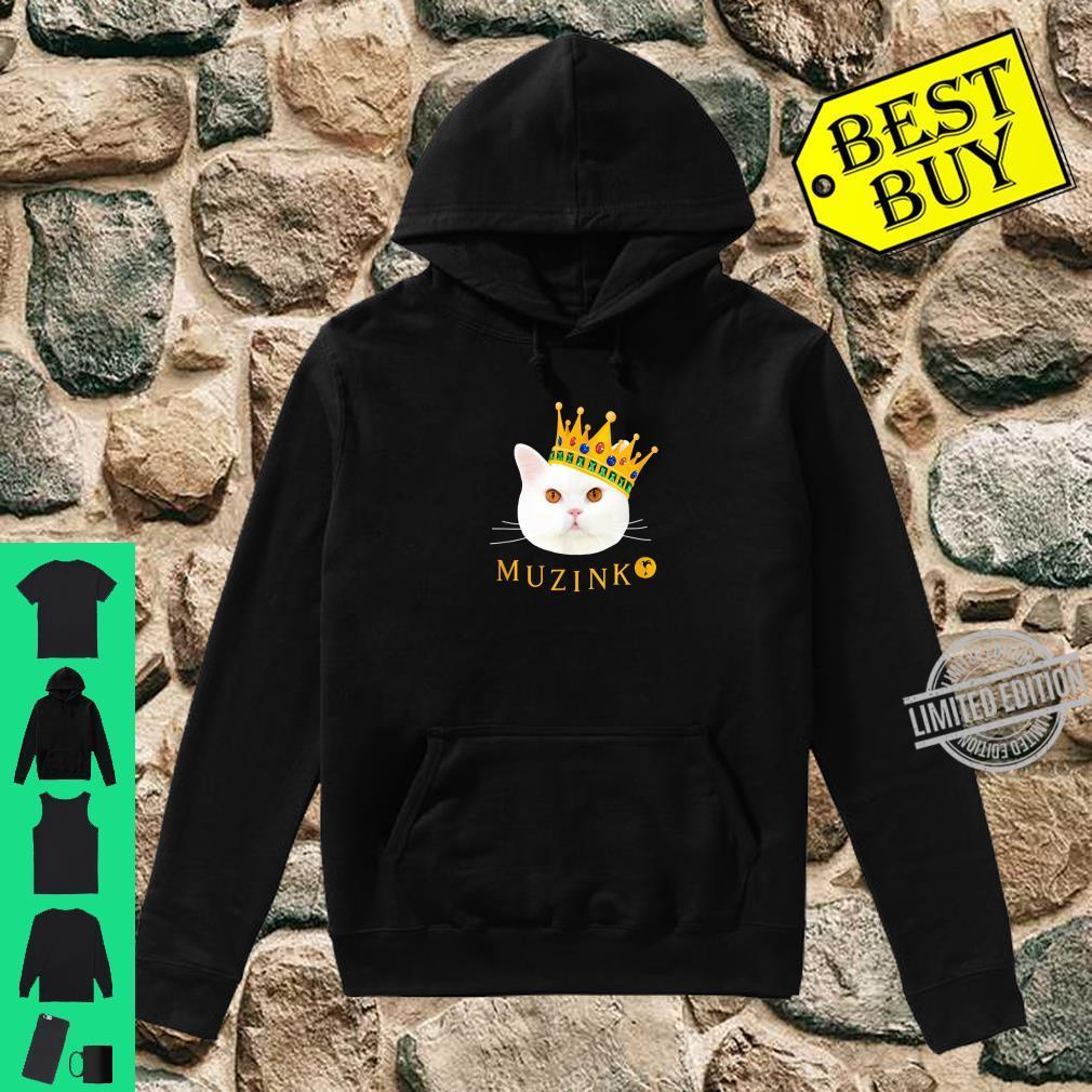 Weiße Katze Muzinko mit Krone Shirt hoodie