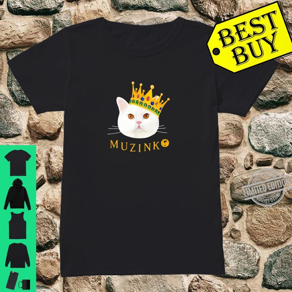 Weiße Katze Muzinko mit Krone Shirt ladies tee
