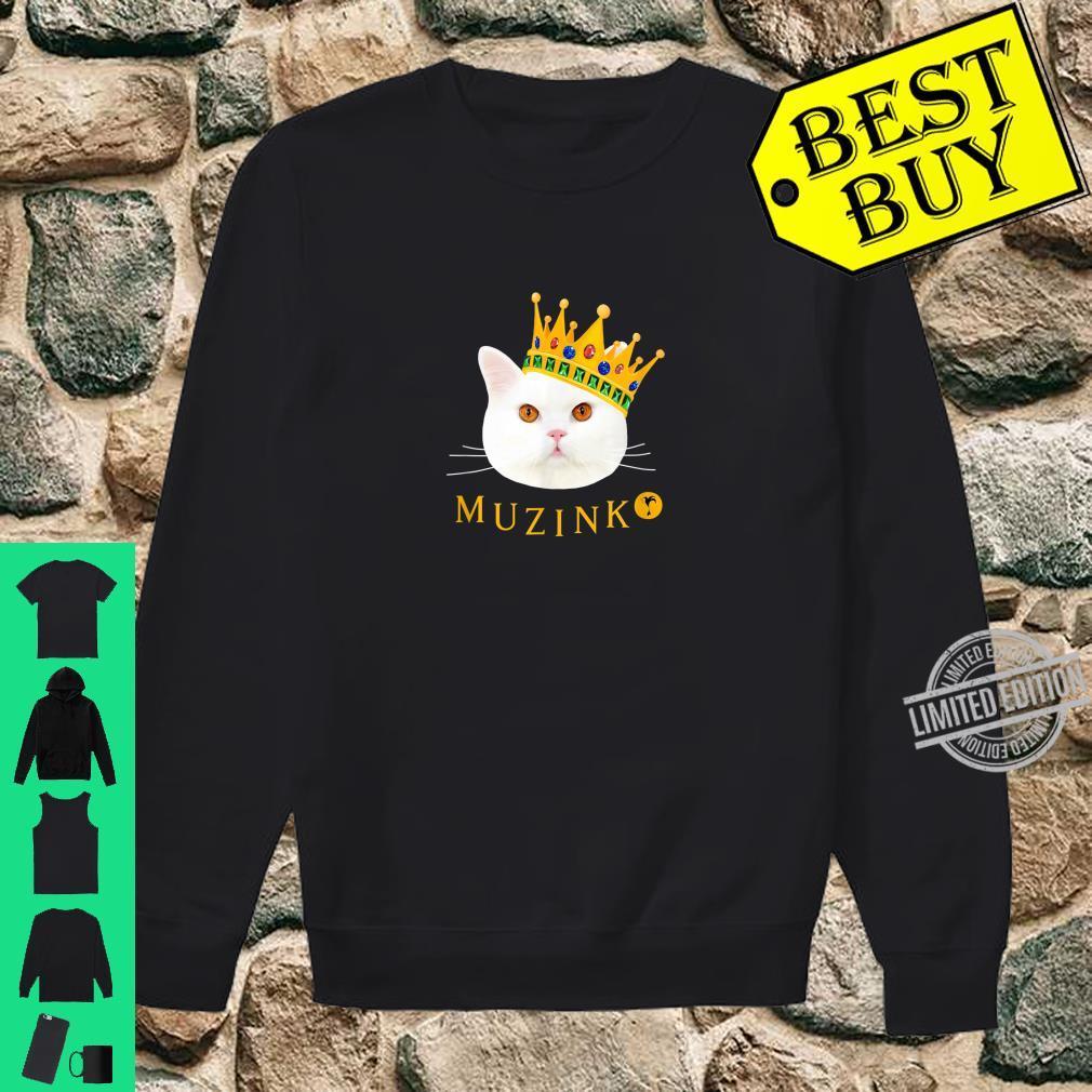 Weiße Katze Muzinko mit Krone Shirt sweater