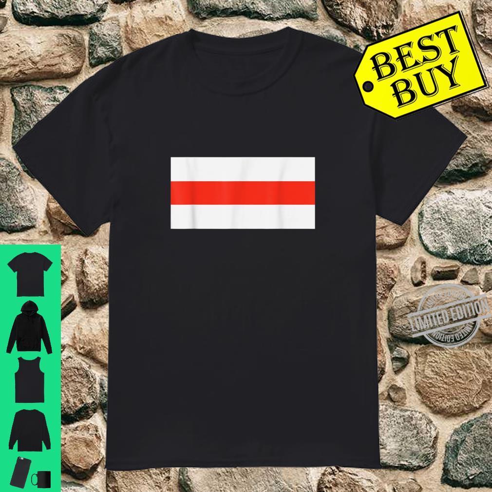 White Red White Weiß Rot Weiß Klassische Belarus Flagge Shirt