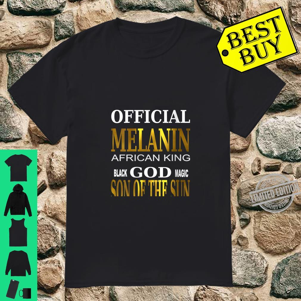 Womens MELANIN Black God AFRICAN KING son of sun magic Shirt