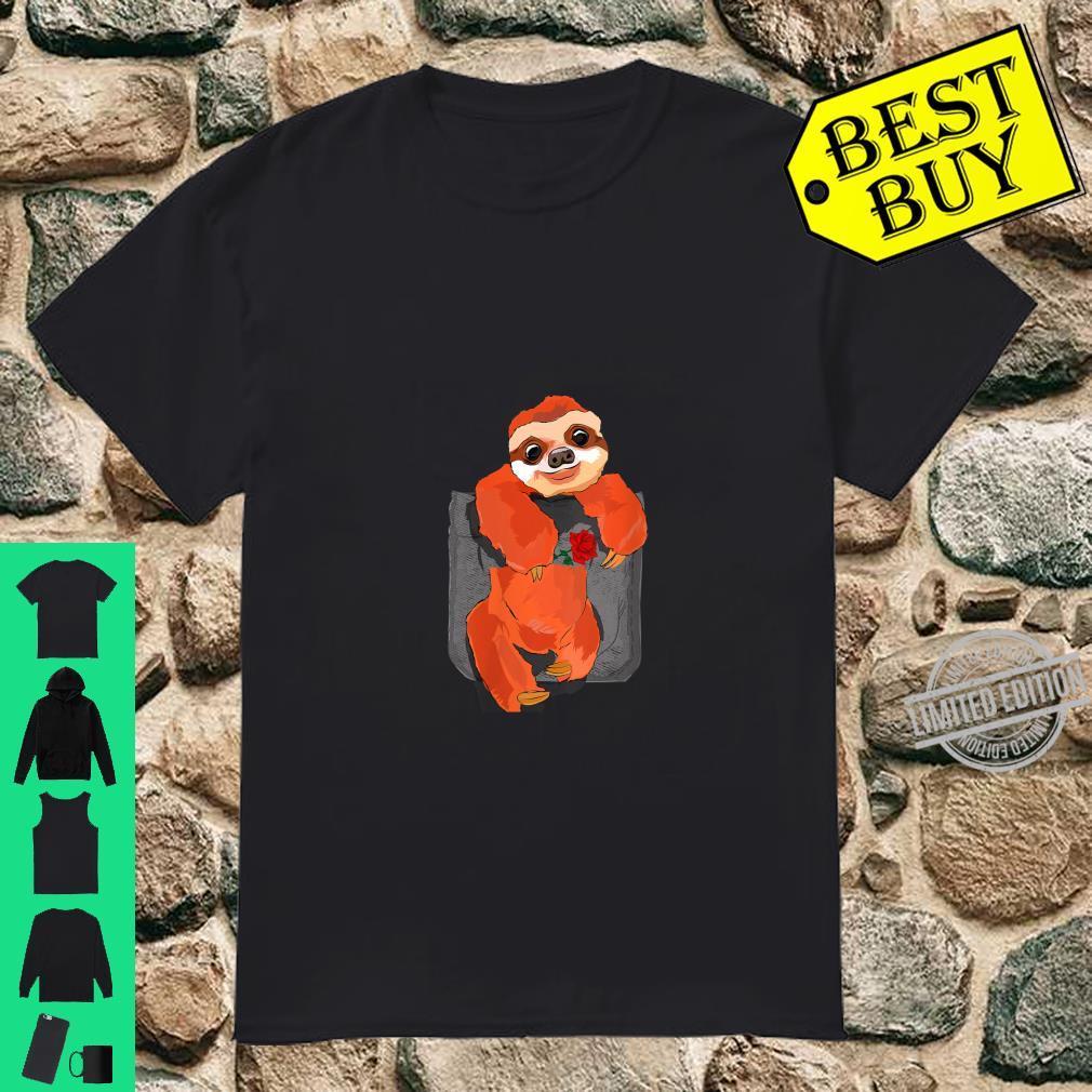 Womens Romantic Sloth In Pocket Shirt