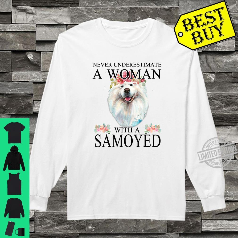 Womens Samoyed Dog Mom Mama Mother Grandma Theme Shirt long sleeved