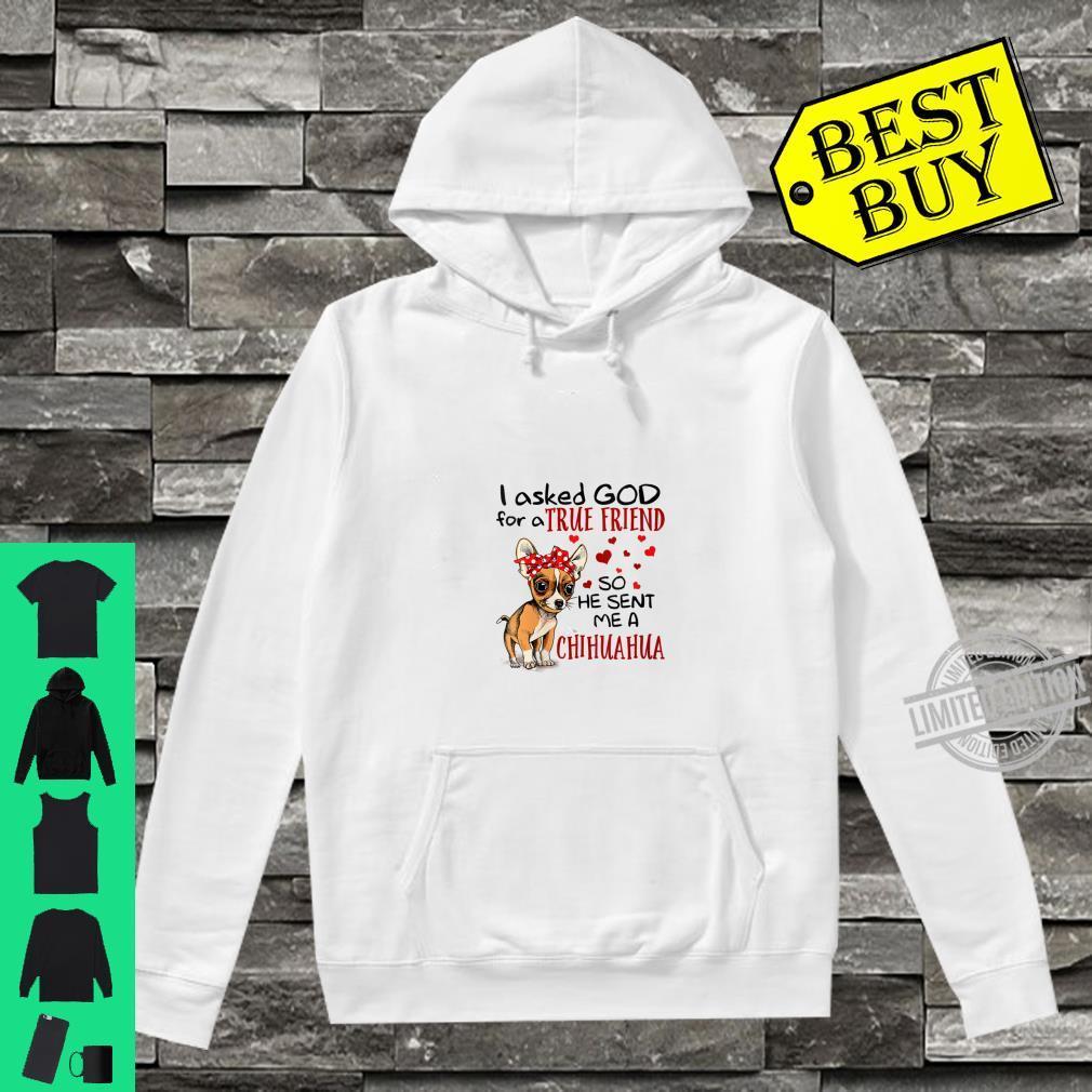 Womens True Friend Chihuahua Shirt hoodie