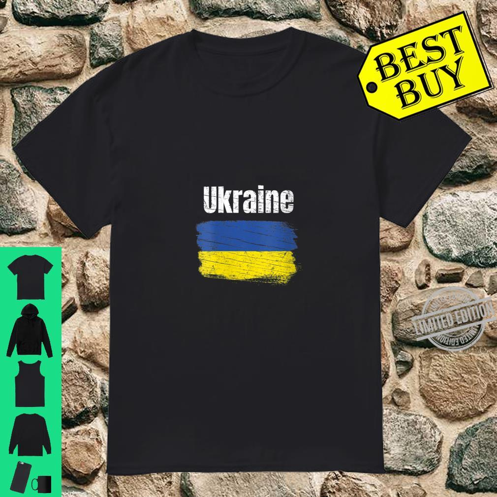 Womens Ukraine Ukrainian Flag Vintage Ukraines Shirt
