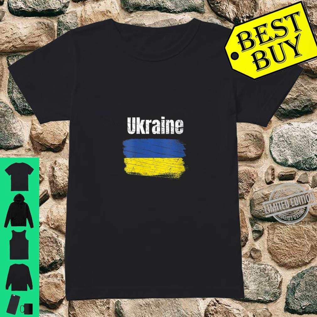 Womens Ukraine Ukrainian Flag Vintage Ukraines Shirt ladies tee