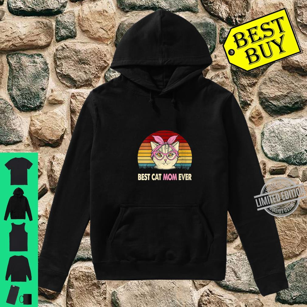 Womens Vintage Best Cat Mom Ever Cat Mama Mother Shirt hoodie
