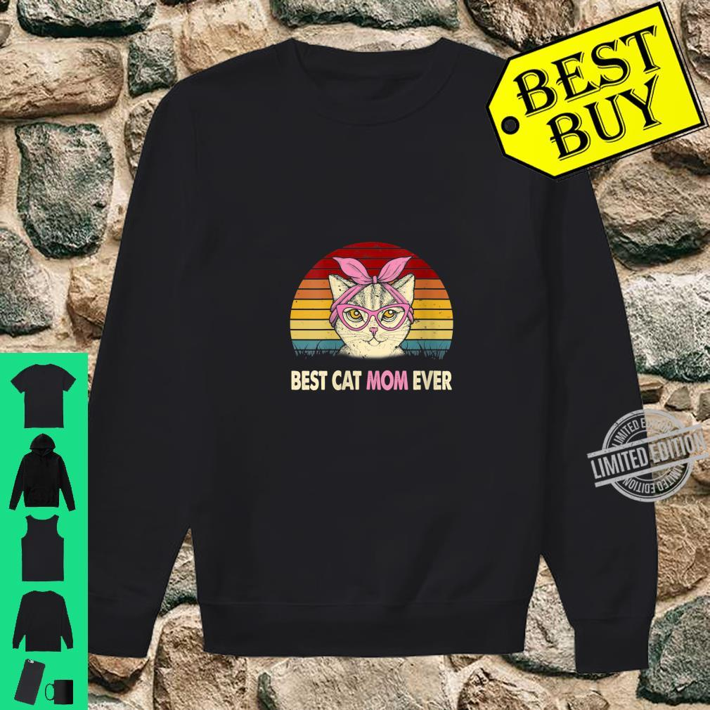 Womens Vintage Best Cat Mom Ever Cat Mama Mother Shirt sweater