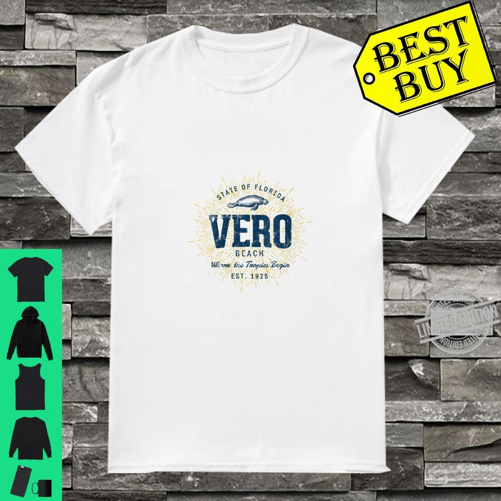 Womens Vintage Retro Style Vero Beach Shirt