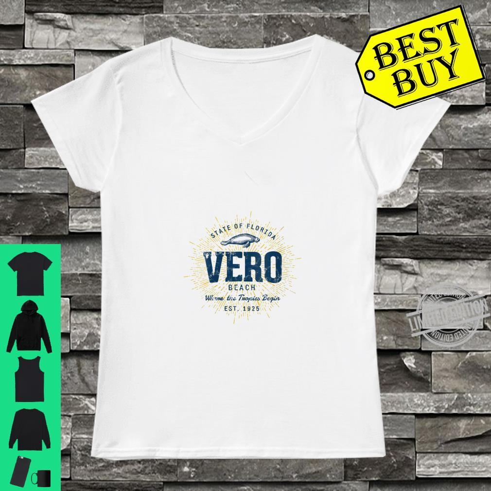 Womens Vintage Retro Style Vero Beach Shirt ladies tee