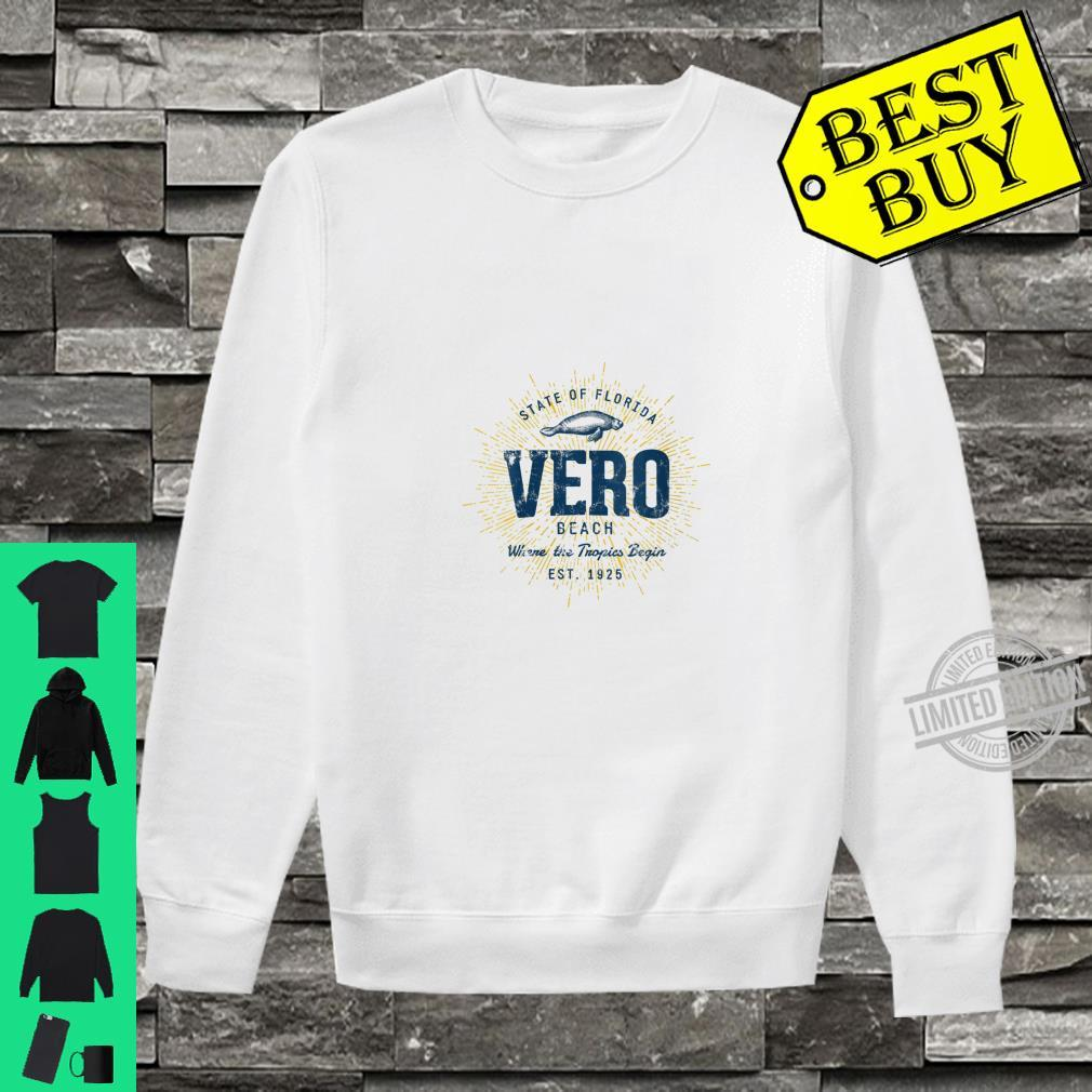 Womens Vintage Retro Style Vero Beach Shirt sweater