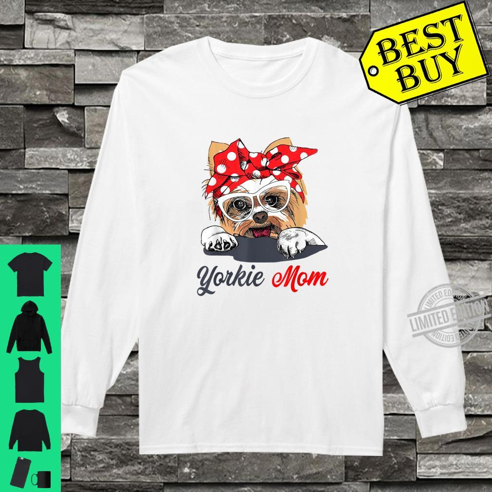 Yorkie Mom Dogs Shirt long sleeved